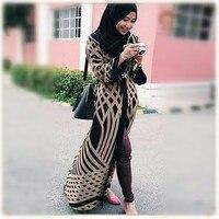2017 חדש כותנה מזדמן מבוגרים חלוק Musulmane תורכי דובאי אופנה העבאיה שמלה מוסלמית קרדיגן גלימות ערביות שירות פולחן