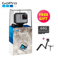 GoPro HERO7 белая Водонепроницаемая цифровая Экшн камера с сенсорным экраном 1440p HD видео 10MP фото HERO 7