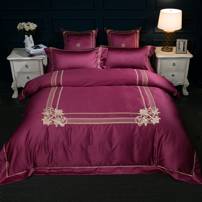 4/6/7Pcs High TC Egypt Cotton Luxury Classical Bedding Set Embroidery Duvet cover set Bed Sheet Pillowcases Queen King Size4/6/7Pcs High TC Egypt Cotton Luxury Classical Bedding Set Embroidery Duvet cover set Bed Sheet Pillowcases Queen King Size