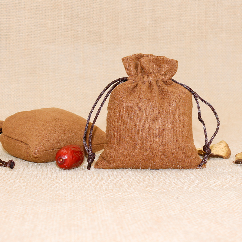 100pcs/lot 9*12 Cm Custom Logo Printed Brown Suede Drawstring Pouch Packing Christmas Jewelry Pouch Bag Wholesale Price
