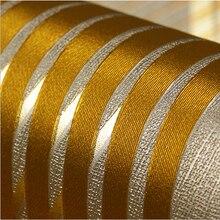 Современная роскошная стерео 3D полосатая настенная бумага s гостиная KTV стены бумаги рулон 3D ПВХ стены бумаги коричневый черный красный золотой стены бумаги
