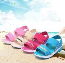 2019Letter Baby Girl Summer Sandal Children Casual Kids Girls Leisure sports sandals Comfortable and light pink rose blue