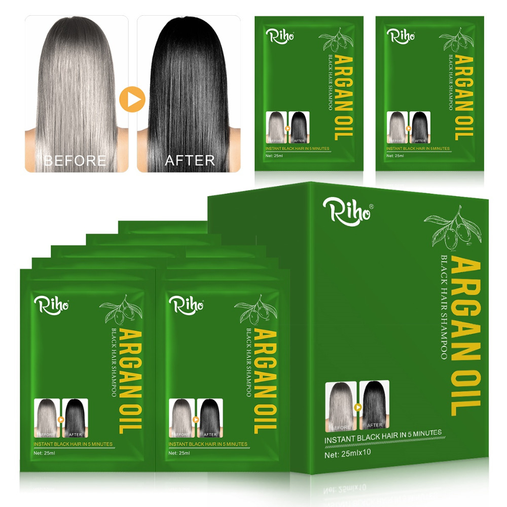 Organ Oil Fast Black Hair Dye Shampoo And Conditioner 5 Minutes