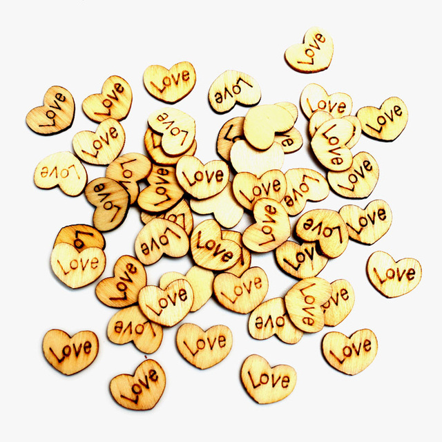 200pcs Heart Love Wood Craft Embellishments MDF Wooden Cutout Flatbacks  Scrapbooking for Cardmaking DIY Art Wedding 5205d9777984