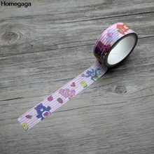 Homegaga Care bears cartoon anime kids funny Washi diy Scrapbooking Adhesive Paper Masking Tape Printed Patterns stickers D1973