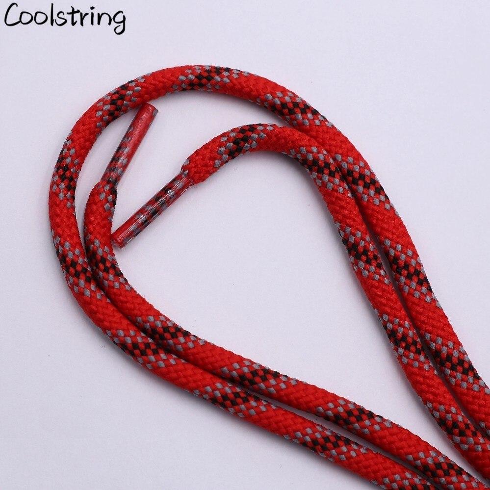 Coolstring 6 мм толстый трехцветный шесть твил круглый шнурок талии свитер шляпа веревка шнурки Кемпинг полиэстер шнурки для обуви