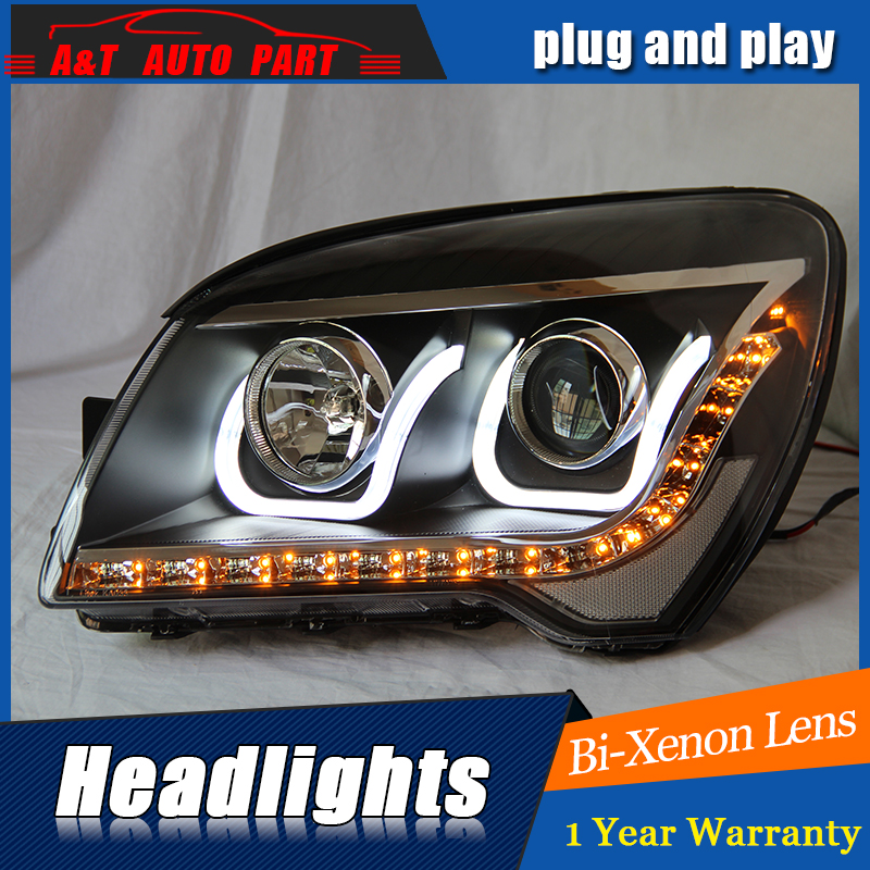 Auto Part Styling For Kia Sportage headlights 2007 2013 For Kia Sportage bi xenon lens h7 xenon