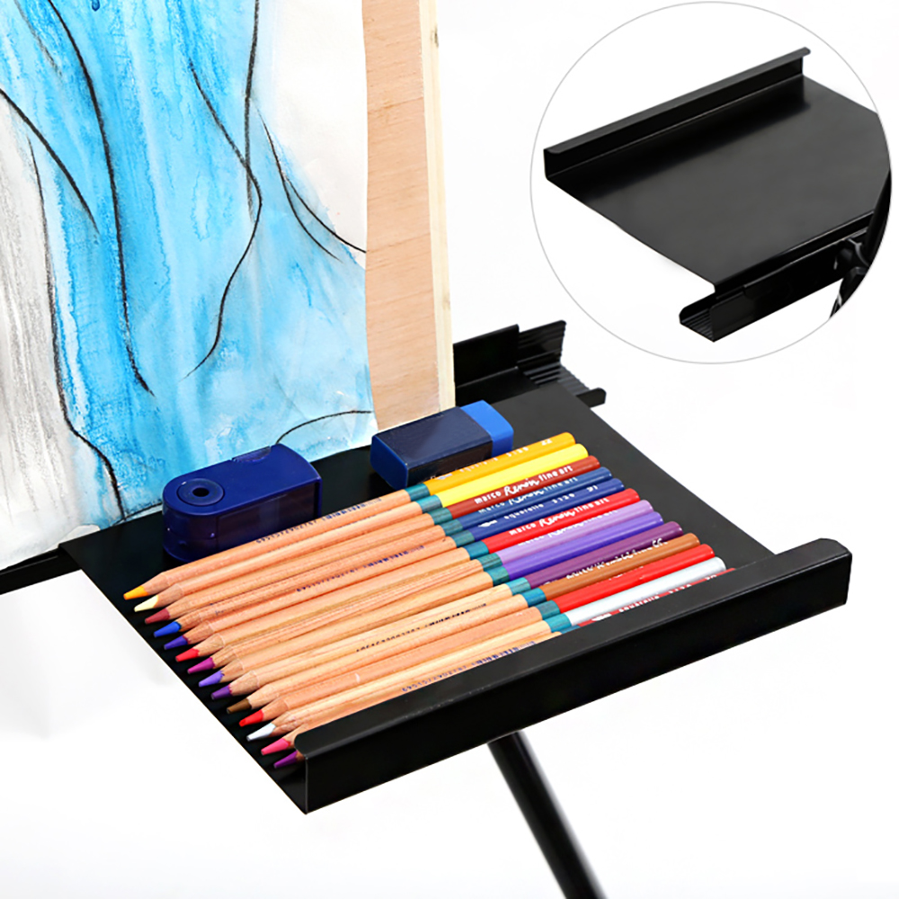 MyLifeUNIT Artist Replaceable Iron Art Easel Tray Painting Tool Placement Tray For Art student painting