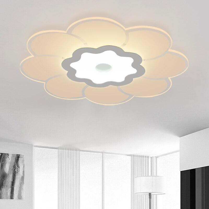 New Design LED Chandelier Light Lustre Flower Acrylic Drop Lustre Flush  Mounted Chandelier Lamp For Living Room Dining Room Part 98