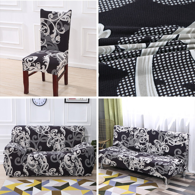 Colorful Patterned Elastic Chair Cover 6