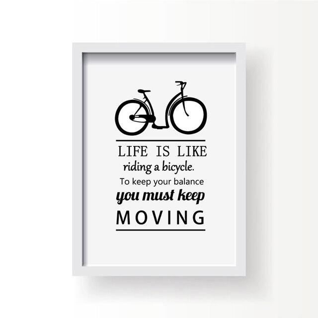 Canvas Prints Riding Bicycle Keep Balance Keep Moving