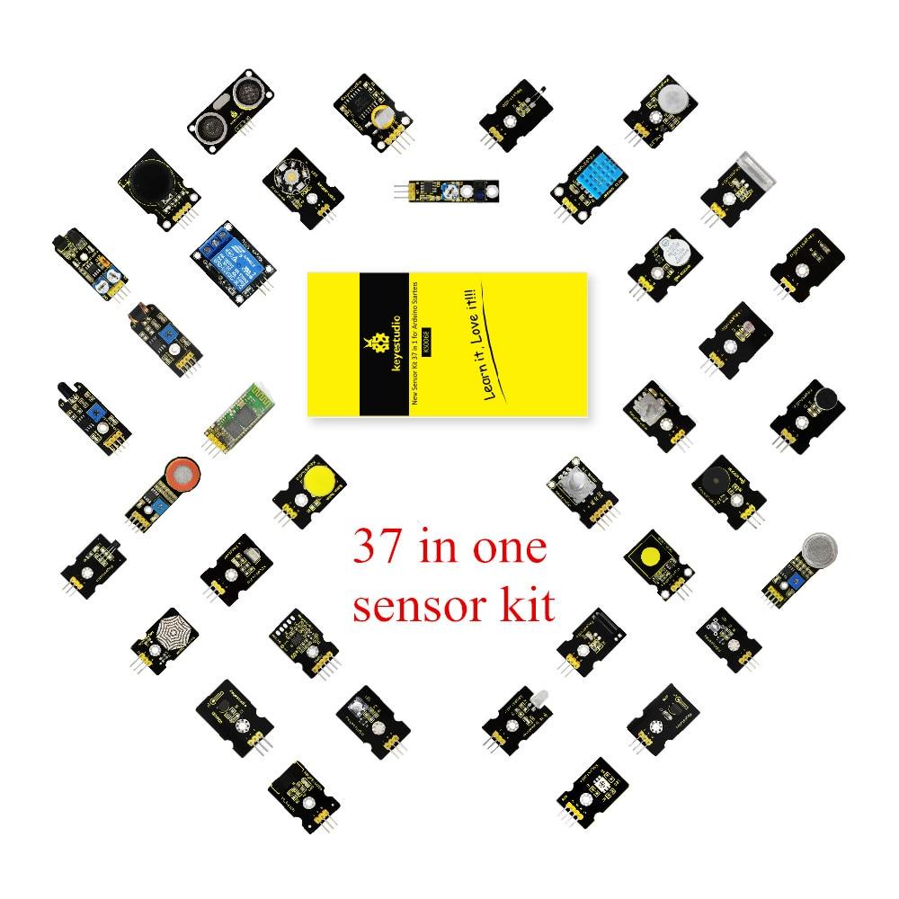 все цены на Keyestudio 37 in 1 One Sensor Kit Starter Kit for Arduino Programming Education/Arduino Project Kit +37 Projects+PDF+Video