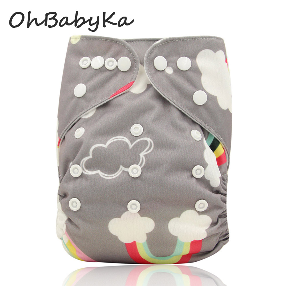 Ohbabyka Baby Cloth Diaper 2016 Adjustable Diaper Covers Washable Reusable Baby Nappies Couche Lavable Bamboo Baby Nappy Cover