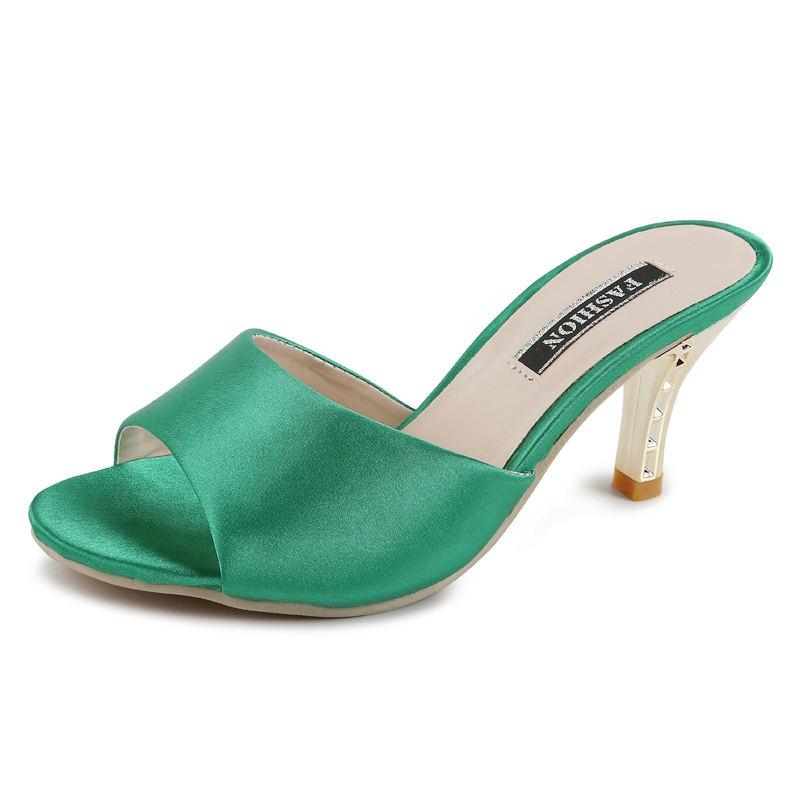 Women Summer Fashion Slipper Sandals Sexy Slides Thin Heels Slippers Peep Toe Shoes Party Woman Flip Flops Sandals 2016 thin soled woman shoes imitation rattan grass summer contracted woman flip flops st18