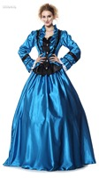 TITIVATE Gothic Renaissance Medieval Costume Halloween Queen Carnival Masquerade Princess Party Fancy Dress S-M For Adult Women