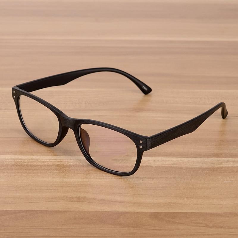 Korejské módní brýle Optické rámy Čiré sklo Falešné brýle Dřevěné vintage brýle Brýle pro ženy