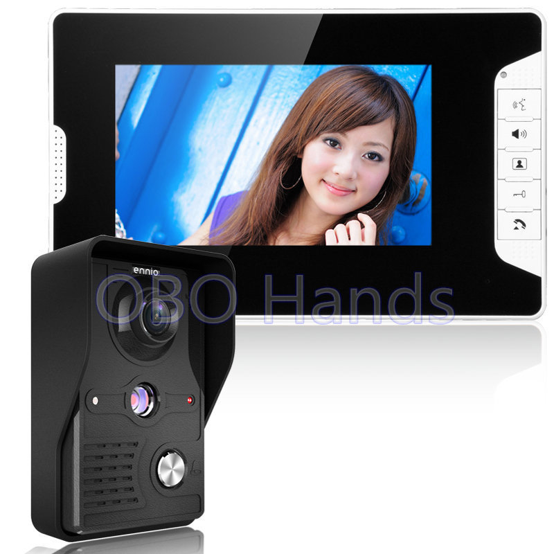 7 Inch Wired Color Video door phone Intercom Doorbell System Kit IR Camera Doorphone+Monitor Speakerphone Intercom 812MK11
