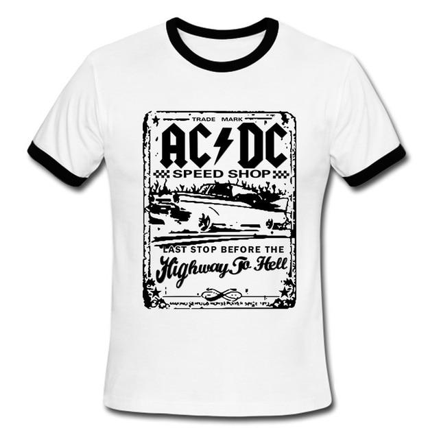 Camisetas Para Ac Speedshop Hombre Gráficos La Nueva Impresión Acdc Moda De Dc Camiseta Xw5FwqO