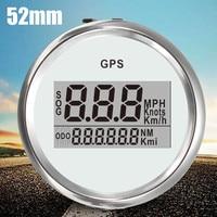 52mm Car Truck Digital GPS Speedometer Gauge 0 999Knot 316L Multi Colored Bezel Dial IP67 Waterproof And Dust Proof Grade