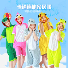 57b7d258eb Pikachu Stitch Panda Minion Cat Bear Animal Summer Cotton Hoodie Pajamas  Costume Cosplay Onesies Sleepwear Cartoon