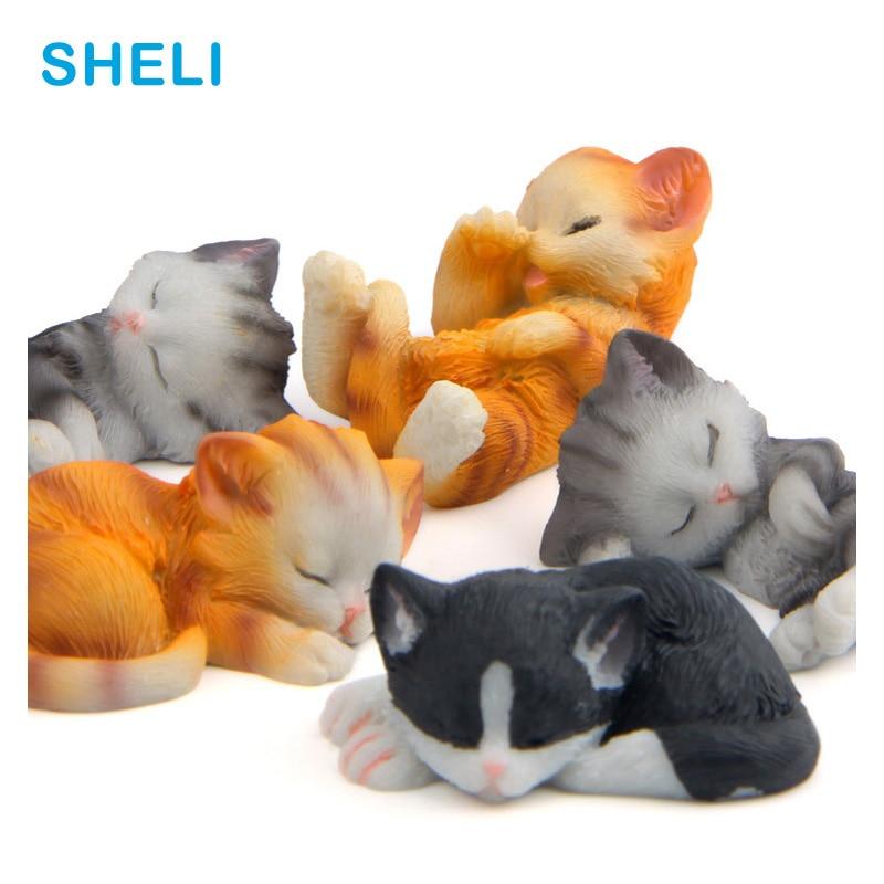 Спящая кошка магниты на холодильник милый котенок лежа мультфильм животных доски стикер магниты на холодильник для детей игрушка украшени...