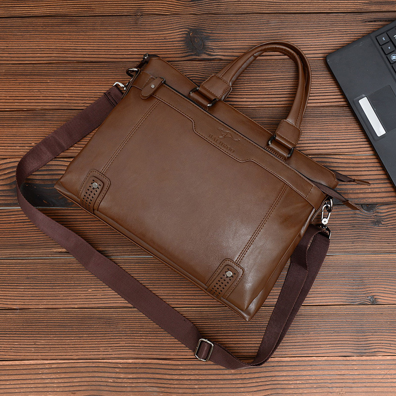 Lisse Man Briefcases Business Casual Black/Khaki Brand High-end office travel Business people's business bag business