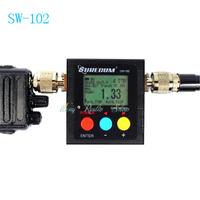 On sale walkie talkie swr meter surecom SW 102 repeater digital SWR antenna analyzer power meter car radio accessories SW102