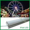 48 pcs SMD 3535 LED bar, caixa De Alumínio de 16 Pixels DMX512, tampa branca leitosa, DC12V, 12 W/M