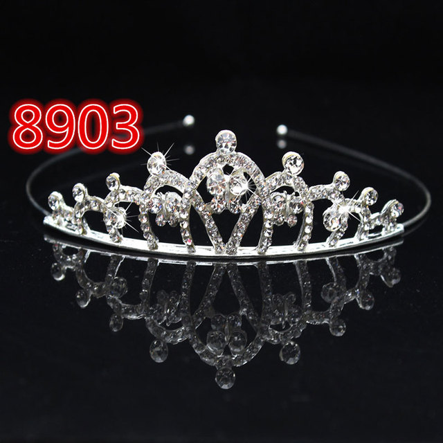 Bridal Wedding Crystal Tiara Headband Party Princess Prom Crown Kids Girl Hairband Hair Accessiories @M23