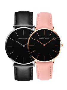 Image 5 - 2pcs/ set Japan Movement Leather Strap Casual Fashion Women Top Brand Luxury Waterproof For Couple Watches relogio feminino