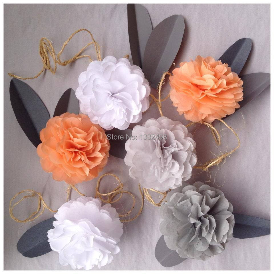 Hot Selling 1230cm Tissue Paper Pom Poms Decorative Flower