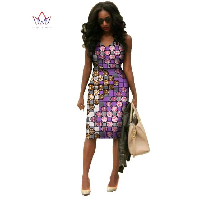 Vestidos 2018 African Dresses For Women Dashiki Plus Size Fashion African Wax Print Dresses Bazin Riche Africa Dresses WY237 5
