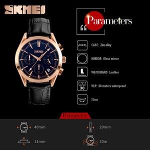 Image 5 - SKMEIแบรนด์หรูแฟชั่นผู้ชายสบายๆกีฬานาฬิกาผู้ชายหนังกันน้ำควอตซ์นาฬิกาผู้ชายนาฬิกาทหารRelógio Masculino