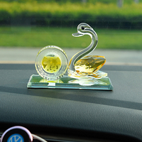 Car Ornament Crystal Swan Perfume Seat Fragrance Trim Accessory Auto Interior Dashboard Decoration Without Perfume Car styling