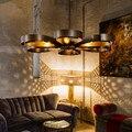 6 Cabeças Criativas Estilo Loft Industrial País da América Do Vintage Bar Café Restaurante Lustre Lustre de Ferro Frete Grátis
