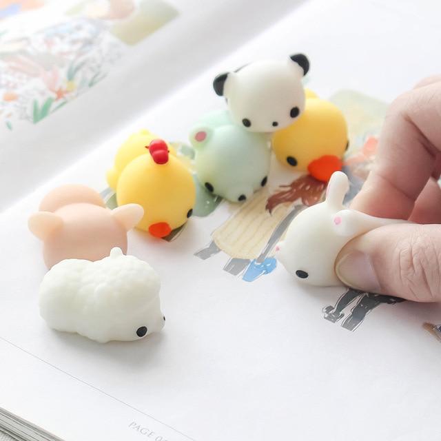 Jouet anti-Stress anxiété 3D mignon Silicone souple dessin animé japon bricolage Squishy pour coque de téléphone Cove mignon chat beau Panda sur étui
