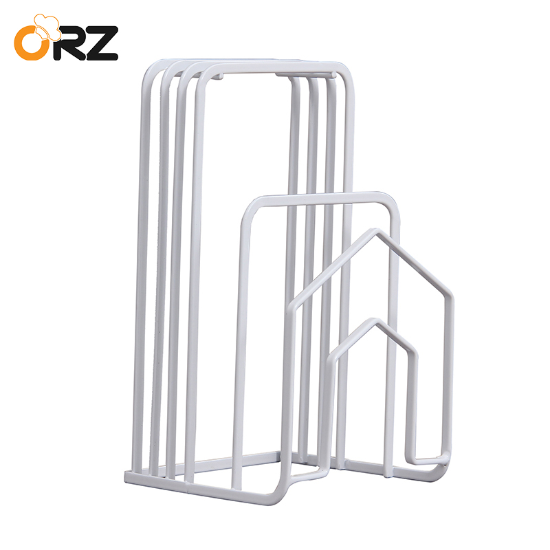 ORZ Kitchen Knife Holder Blocks Cutting Board Stand Pot Pan Cover Dish Drain Rack Kitchen Houseware Organizer Pantry Rack