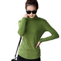 Plus Size M 4XL Fashion Spring Autumn Blusa Women Turtleneck Winter Tops Slim Casual Long Sleeve