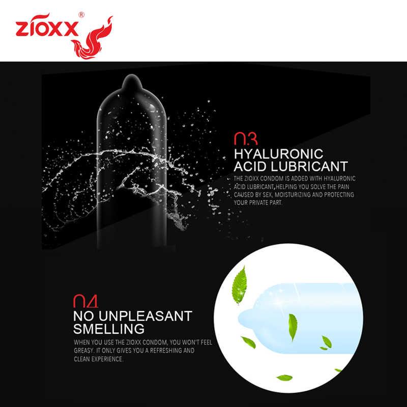 Zioxx Lateks Alam Halus Pelumas Kondom Ultrathin Kontrasepsi Kondom untuk Pria Produk Seks Mainan Seks Pelumas Berbahan Dasar Air