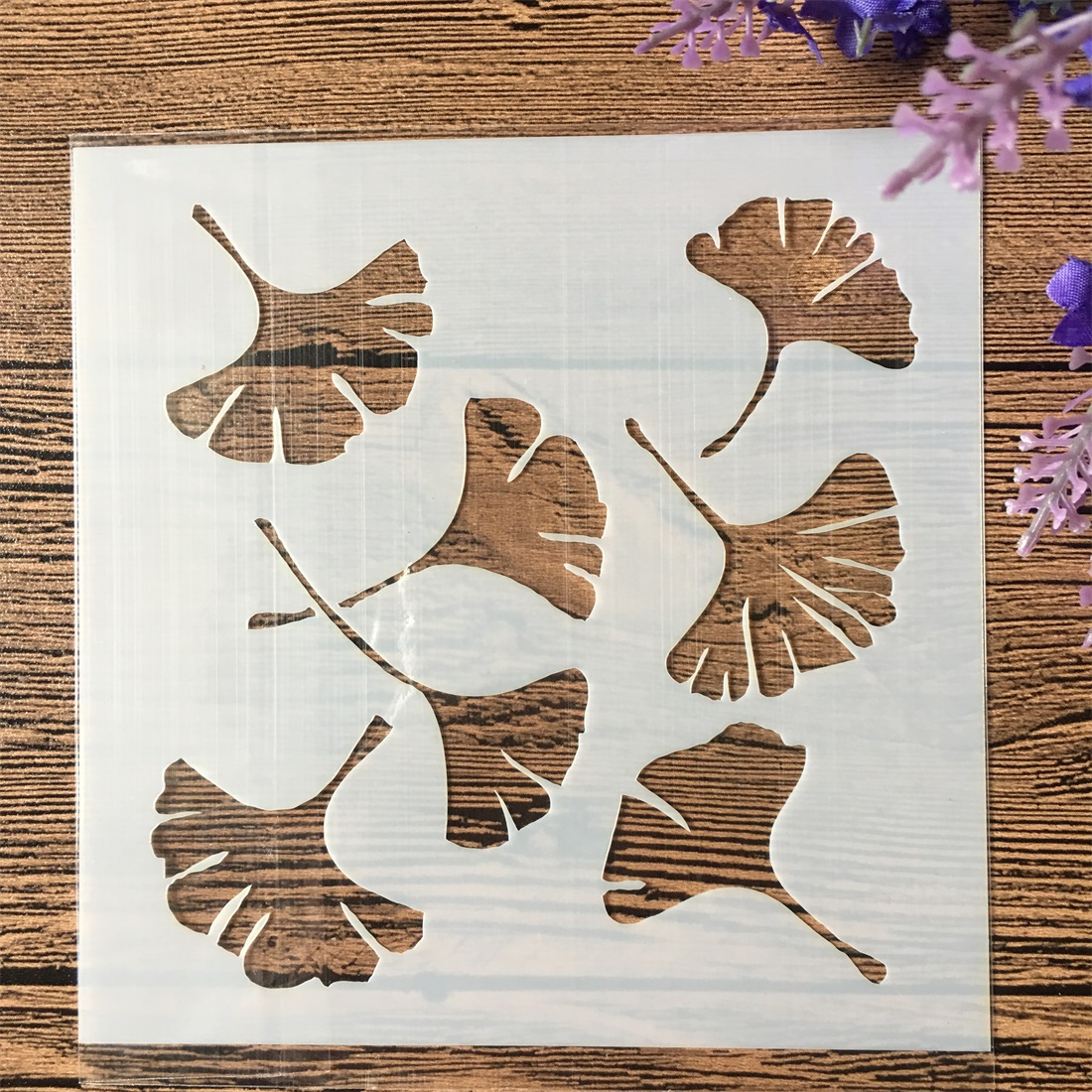 2019 Ginkgo 13cm DIY Craft Layering Stencils Wall Painting Scrapbooking Stamping Embossing Album Decorative Paper Card Template