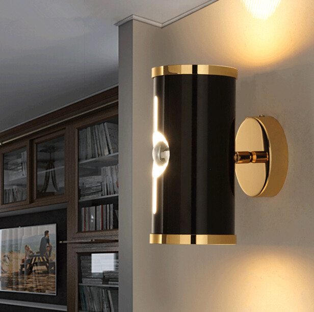 Background LED Luminaria Northern Modern Wind Aisle Stairs Wall Lamp Retro Aluminium Alloy Led Decor Lights Free Shipping