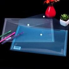 Офисная А4 Сумка для документов, прозрачная пластиковая сумка для документов, ПВХ школьная папка для документов, А4 Папка для бумаг, 6 шт./лот