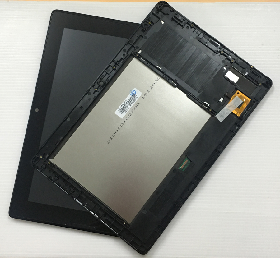 For Lenovo Tab A10-70 A7600-H A7600 A7600-F Touch Screen Digitizer Sensor + LCD Display Panel Monitor Assembly + Frame jianglun touch screen digitizer glass replacement for lenovo a10 70 a7600 h tab
