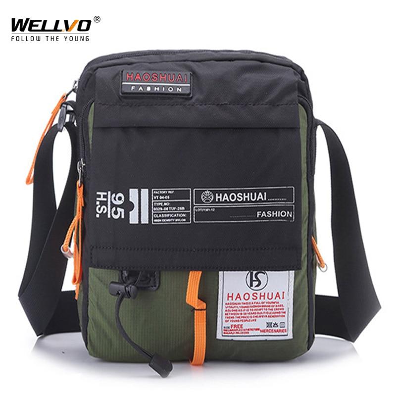 Men Nylon Messenger Bag Shoulder Crossbody Bags Multifunctio