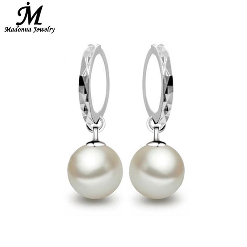 2019 Klassisk Stud Øreringe temperament 10mm Perle øreringe Ny - Mode smykker - Foto 2