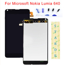 STARDE Replacement LCD For Microsoft Nokia Lumia 640 LCD Display Touch Screen Digitizer Sense Assembly Frame 4.3