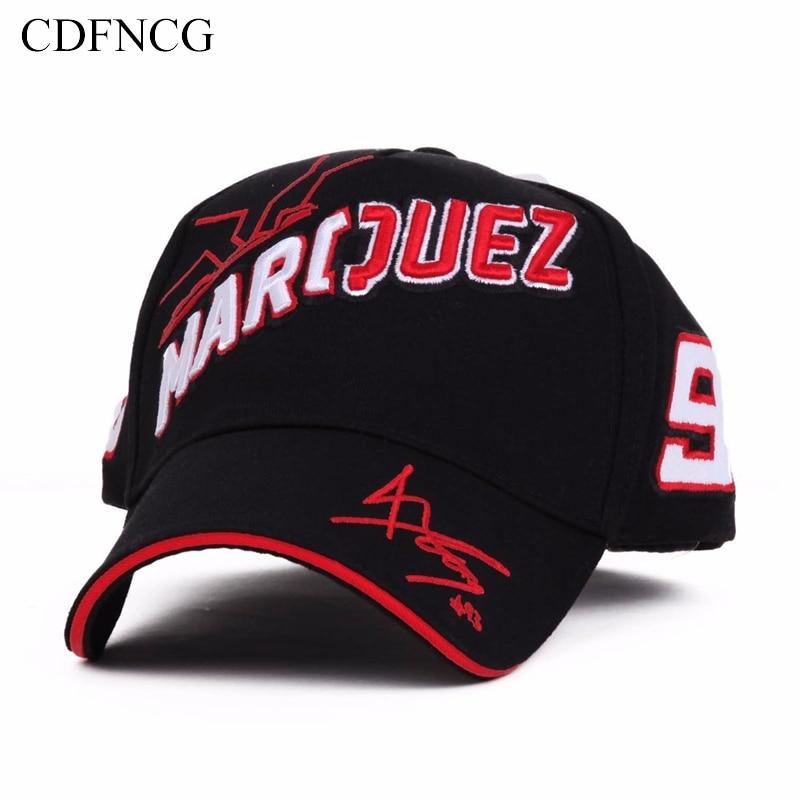 CDF 2019 Fashion Summer Pop   Baseball     Cap   Embroidery 93 Sun Dad Hat for Men Women MotoGP Outdoor Motorcycle Racing Car Gorras