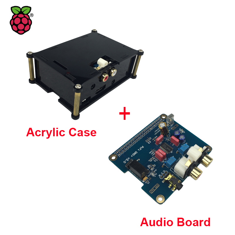 Raspberry Pi 3 HIFI Analog DAC Audio Board Module I2S Interface + Black Acrylic Case compatible for Raspberry Pi 2 thin films for solar cell applications