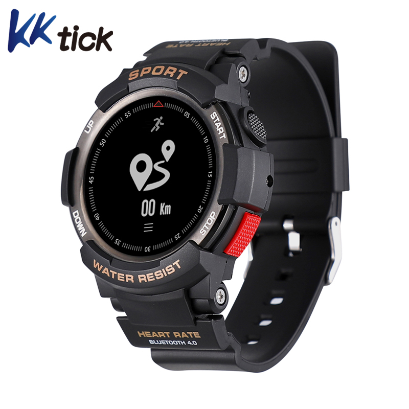 KKTICK F6 montre Smart watch Étanche Bluetooth 4.0 Sommeil Moniteur À Distance Caméra Montre Hommes Sports de Plein Air montre Smart watch pour iOS Android