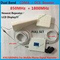 2016 Nova 65dB High Gain 850 1800 MHz de Banda Dupla Amplificador Booster de Sinal de Telefone celular Móvel, GSM CDMA DCS Sinal De Celular repetidor